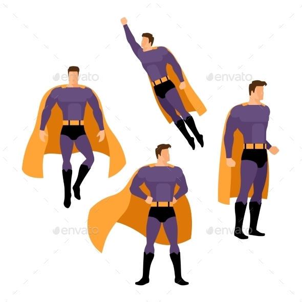 Superhero Poses - People Characters