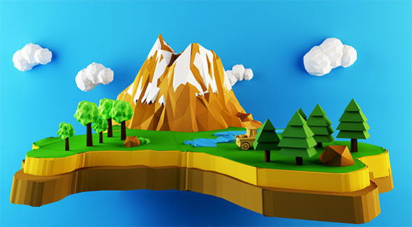 Low Poly Nature - 3DOcean Item for Sale