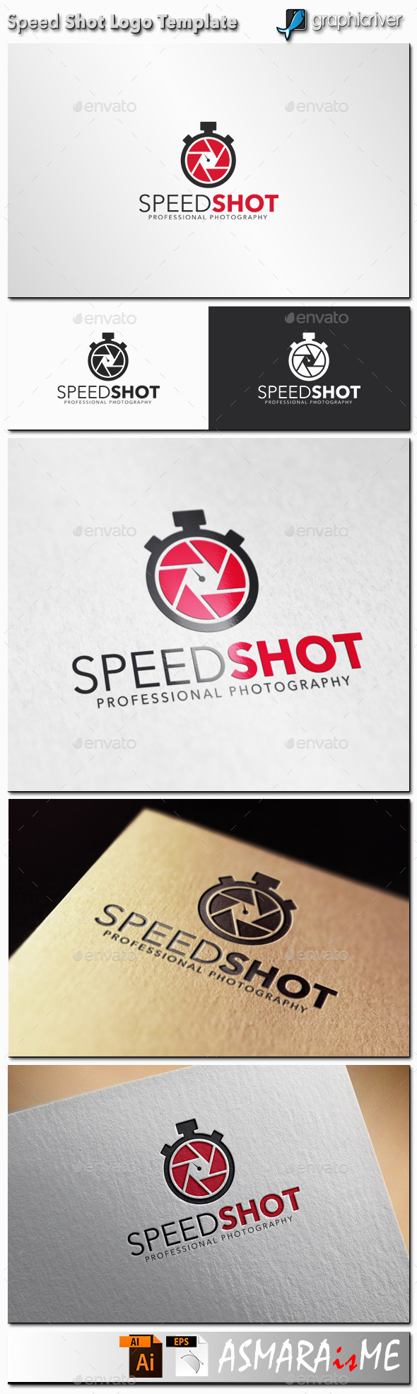 Camera Logo - Speed Shot Photography