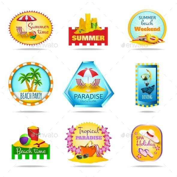 Vacation Emblems Set - Travel Conceptual
