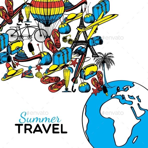 Travel Hand Drawn Illustration - Travel Conceptual