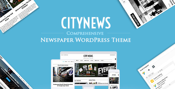 CityNews – Comprehensive Newspaper WordPress Theme