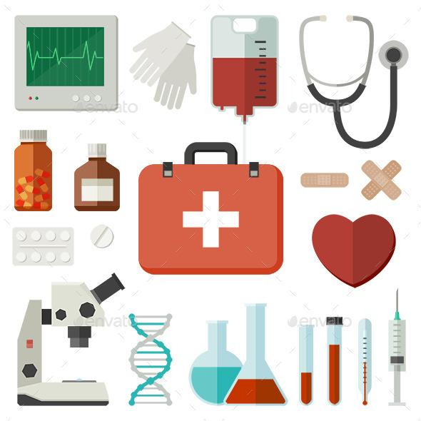 Medicine Icons - Health/Medicine Conceptual