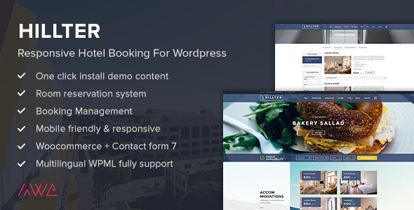Hillter - Responsive Hotel Booking for WordPress - Travel Retail