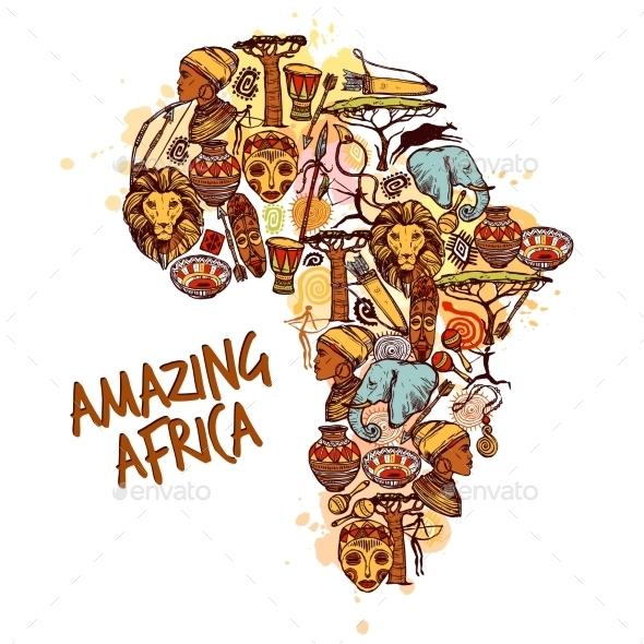 Africa Concept - Miscellaneous Vectors