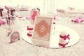 Elegant dinner table at wedding reception