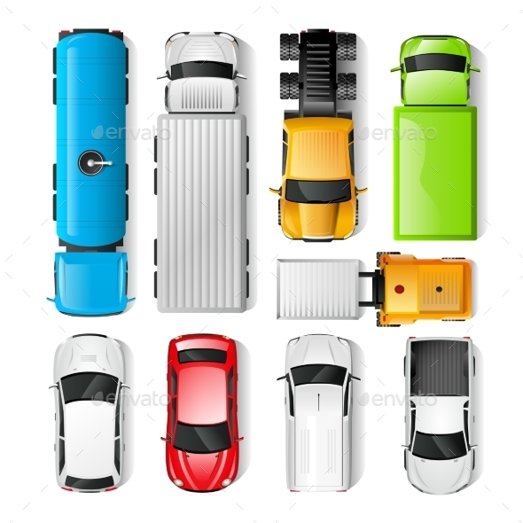 Cars Top View - Miscellaneous Vectors