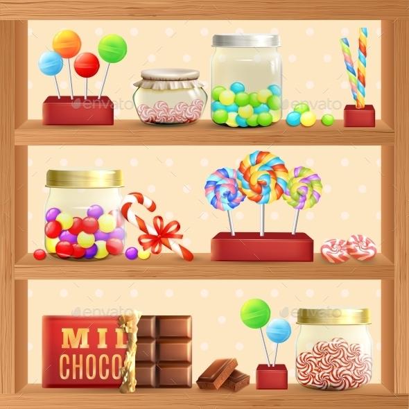 Sweet Store Shelf - Food Objects