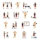 Gym Trainer Set - GraphicRiver Item for Sale