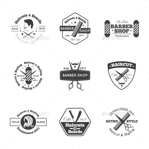 Hairdress Logo Set - Miscellaneous Vectors