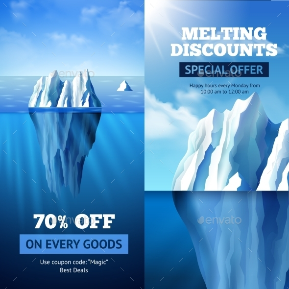 Iceberg Sale Banners - Business Conceptual