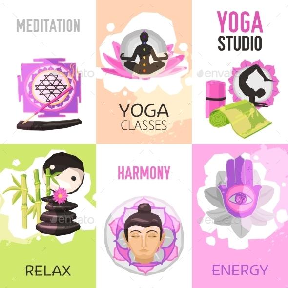 Yoga Poster Set - Sports/Activity Conceptual