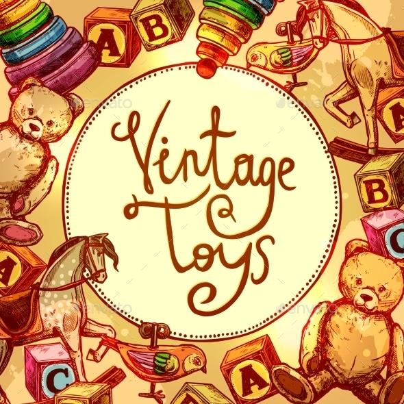 Vintage Toys Composition