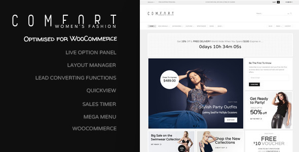 Comfort – Premium WordPress Commerce Theme