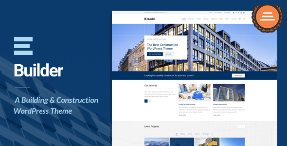 Builder – A Building & Construction WordPress Them