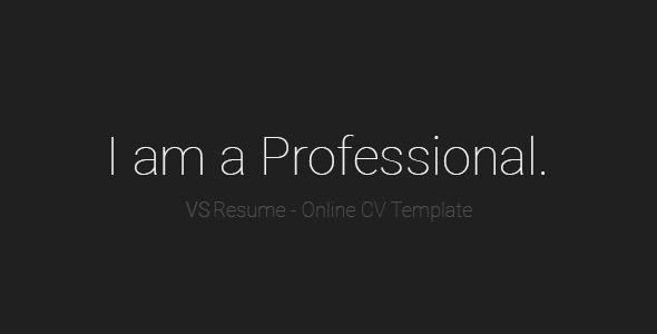 VSResume - Online CV / Resume Template by vsart | ThemeForest