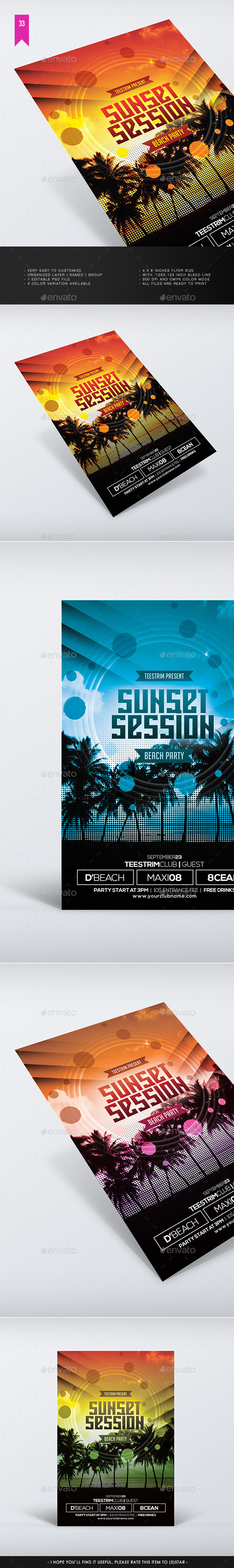 Sunset Session Flyer Template