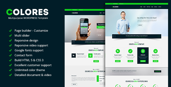 Colores – Multipurpose WordPress Template
