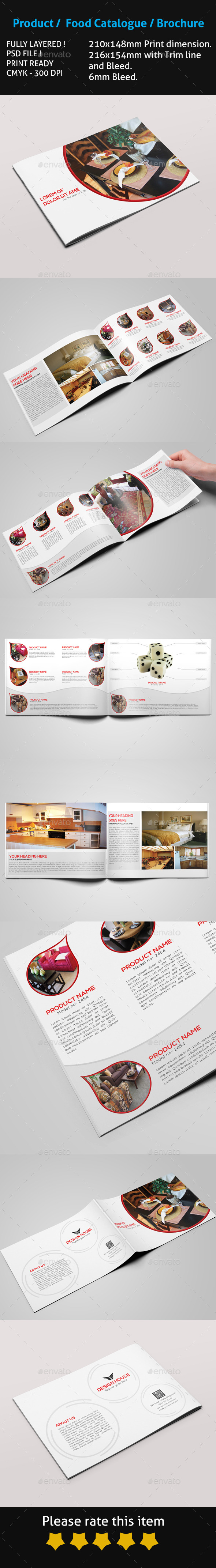 Product Food Catalogue Brochure