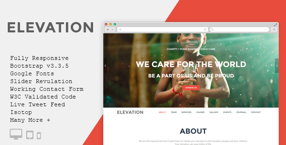 ELEVATION – Charity/Nonprofit/Fundrising Template