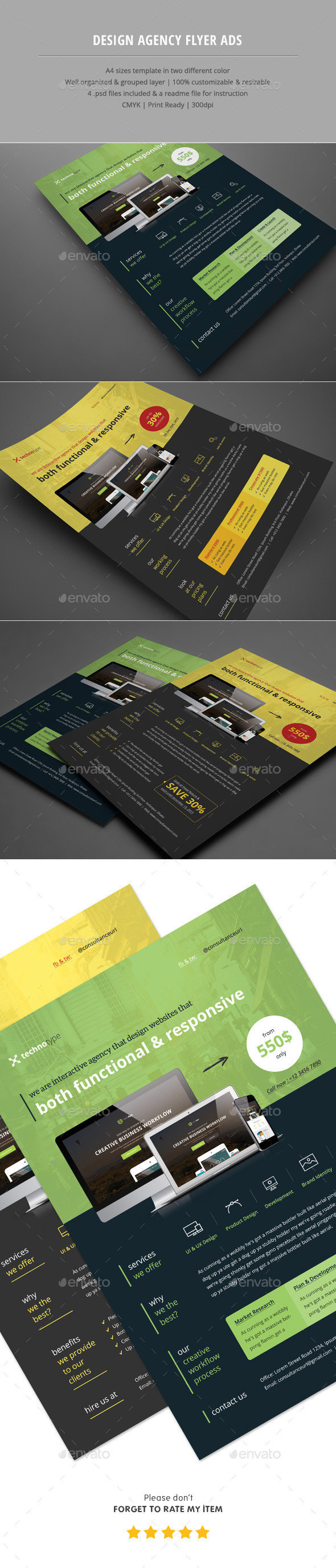 Design Agency Flyer Ads - Corporate Flyers