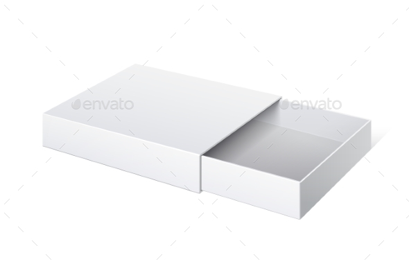 Package Cardboard Sliding Box Opened