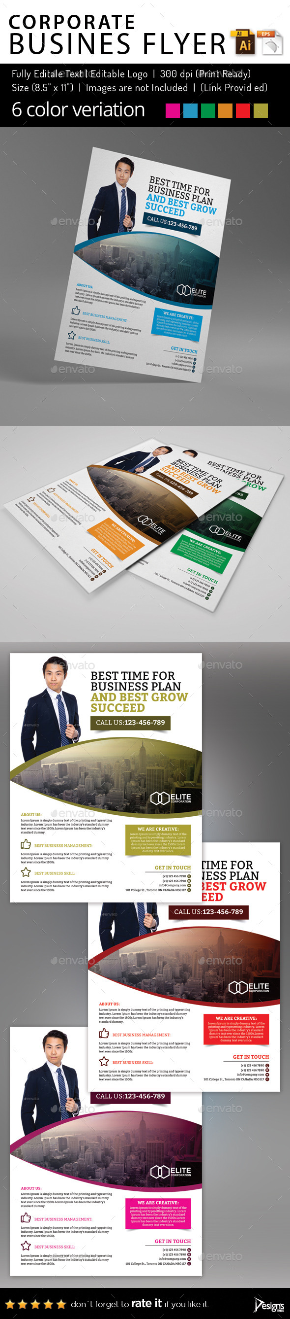 Multipurpose Business Flyer 60 - Corporate Flyers