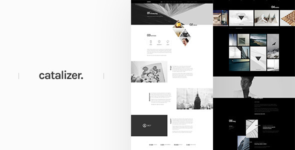 catalizer. | creative single page template