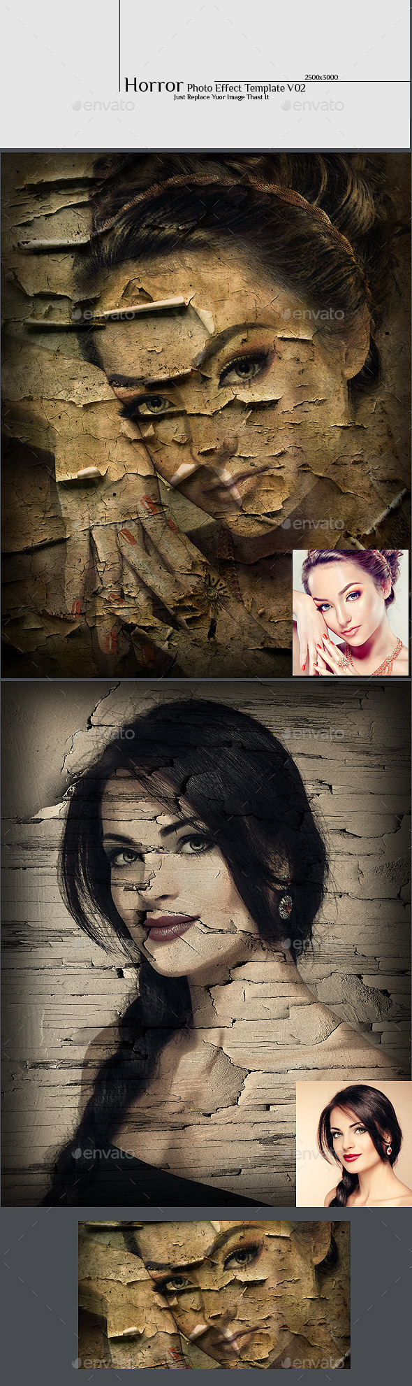 Horror Photo Effect Template v02 - Photo Templates Graphics