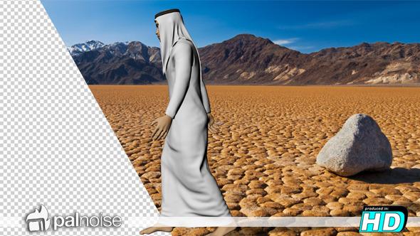 Arab Man 3D Walking 2