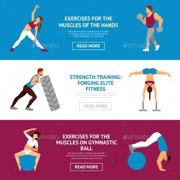 Workout Banner Set - Sports/Activity Conceptual