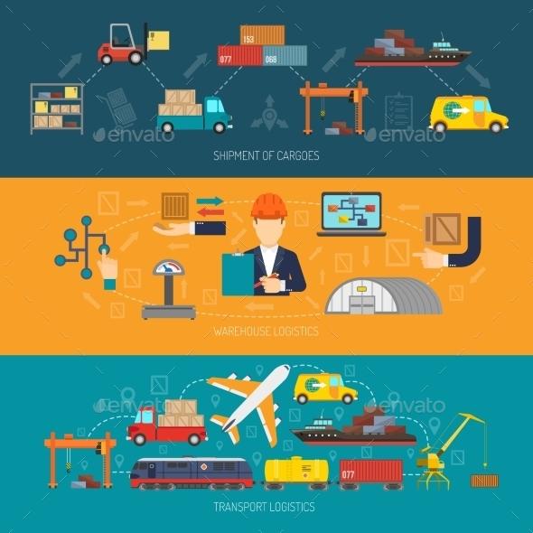 Logistics Banner Horizontal - Miscellaneous Vectors