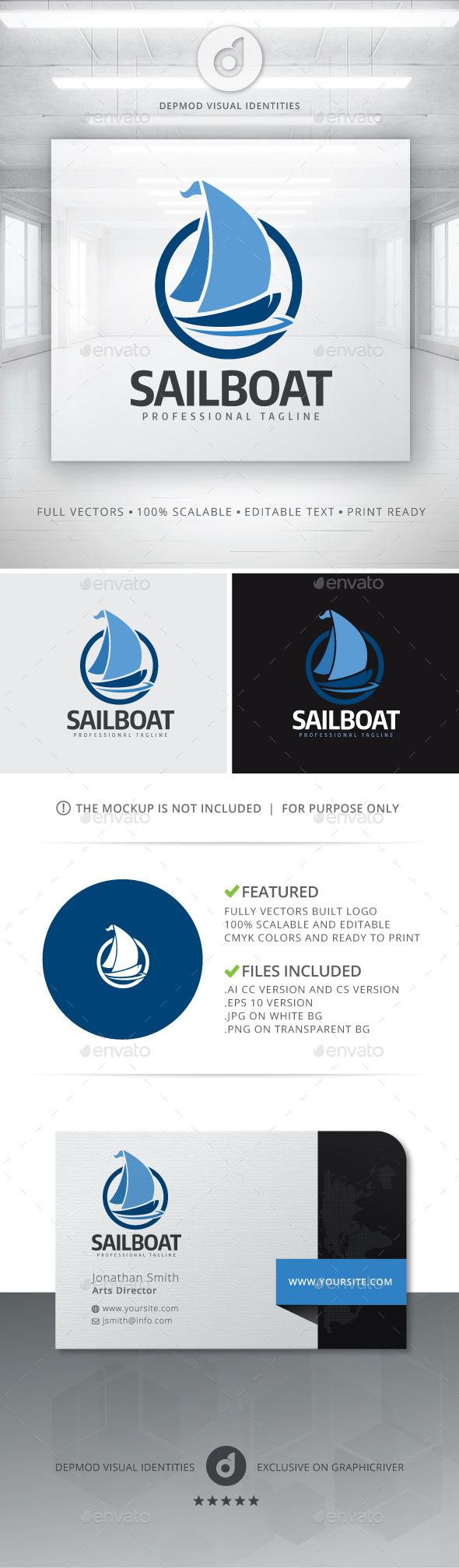 SailBoat Logo - Objects Logo Templates