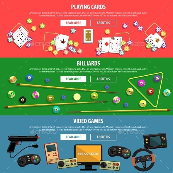 Games Banners Set  - Sports/Activity Conceptual