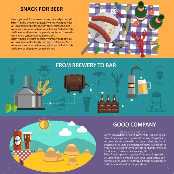 Beer Banners Set - Miscellaneous Vectors