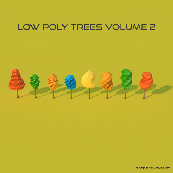 8 Low Poly Trees - 3DOcean Item for Sale