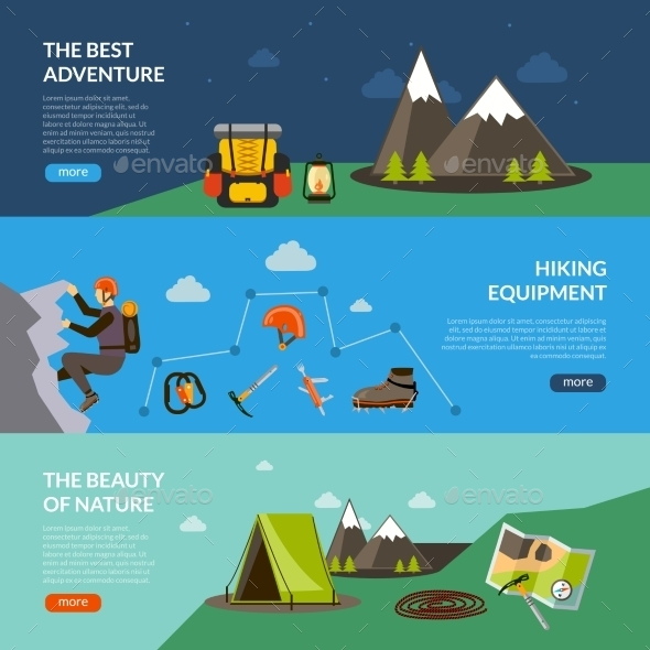 Camping Adventure Banner Set - Nature Conceptual