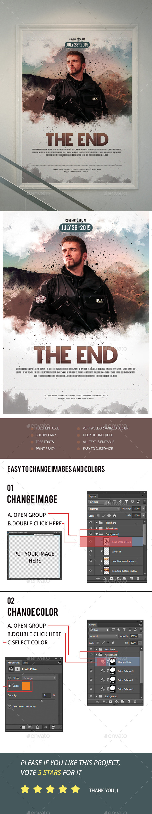 The End Movie Poster Flyer II