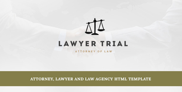 Lawyer Trial- Attorney, Lawyer and Law Agency HTML