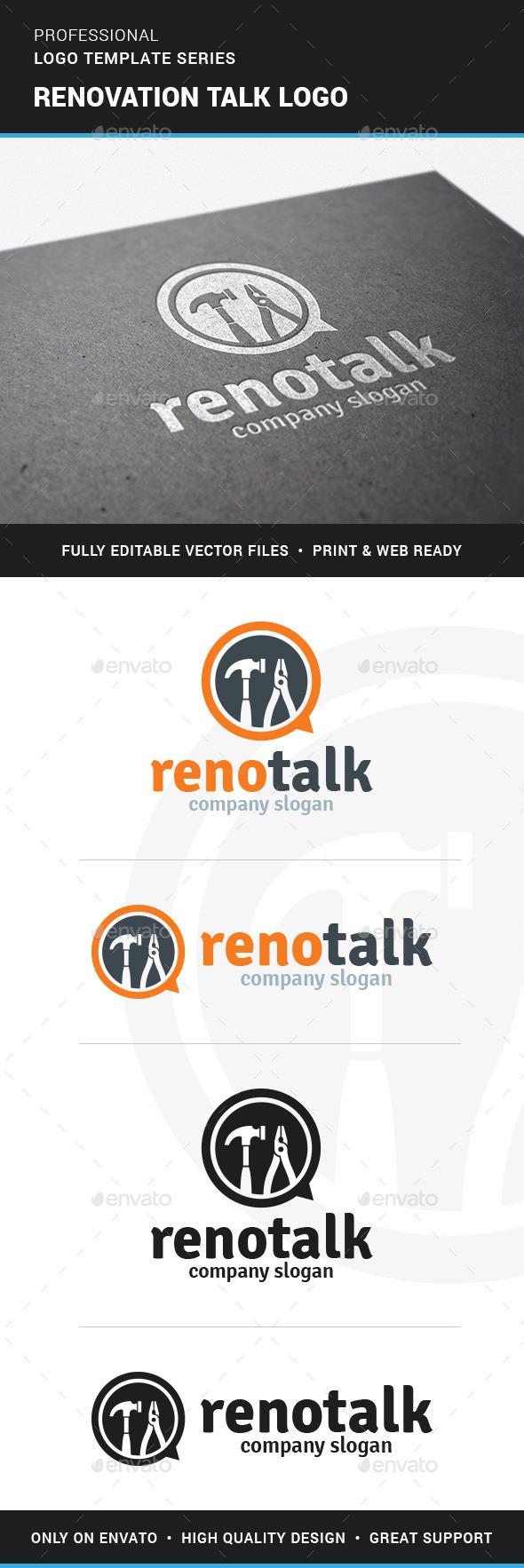 Renovation Talk Logo Template - Objects Logo Templates