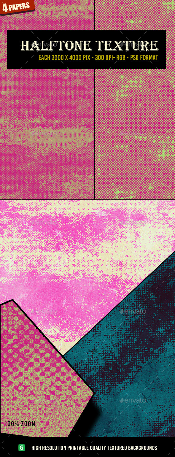 Halftone Texure Pack 65 - Abstract Textures