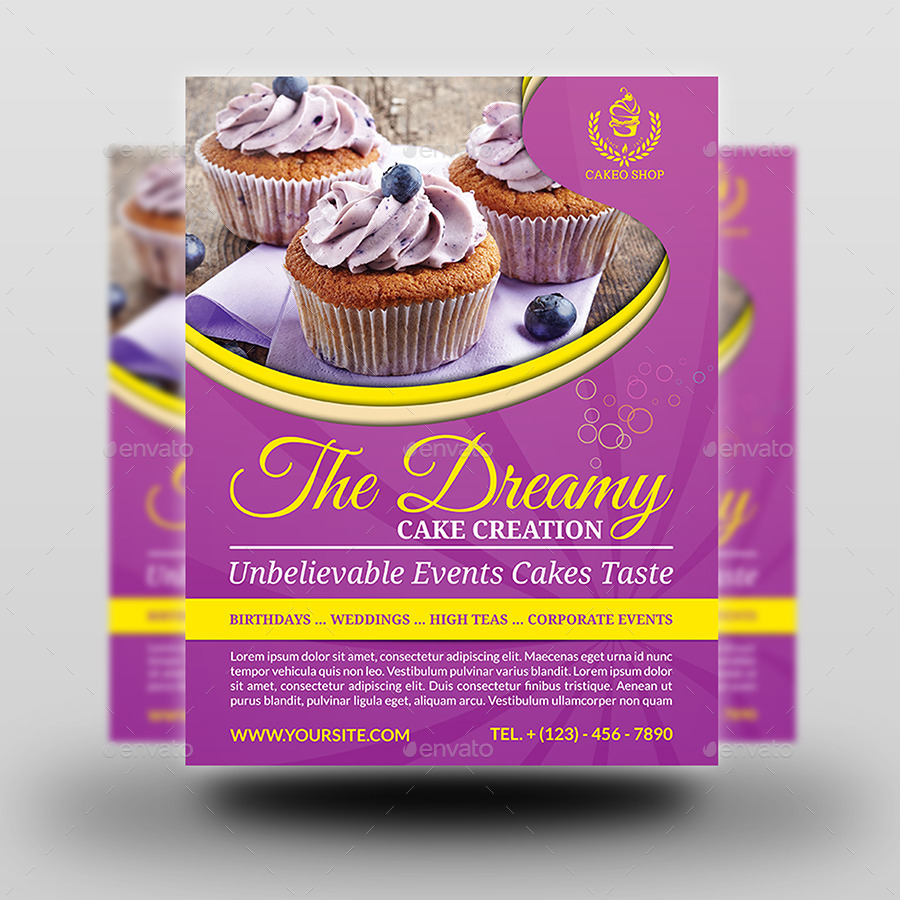 Cupcake Cake Design Templates : Cake Shop Advertising Bundle Vol.2 by OWPictures ...