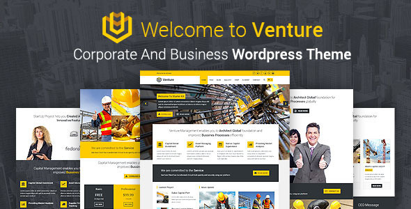 Venture – Corporate And Business WordPress Theme