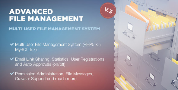 Advanced File Management - CodeCanyon Item for Sale