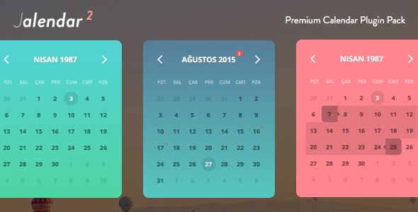 Jalendar 2 Calendar Pack [Event, Range and More...] - CodeCanyon Item for Sale