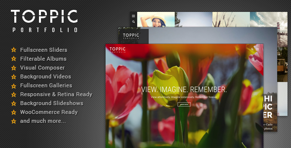 TopPic – Photography Portfolio WordPress Theme