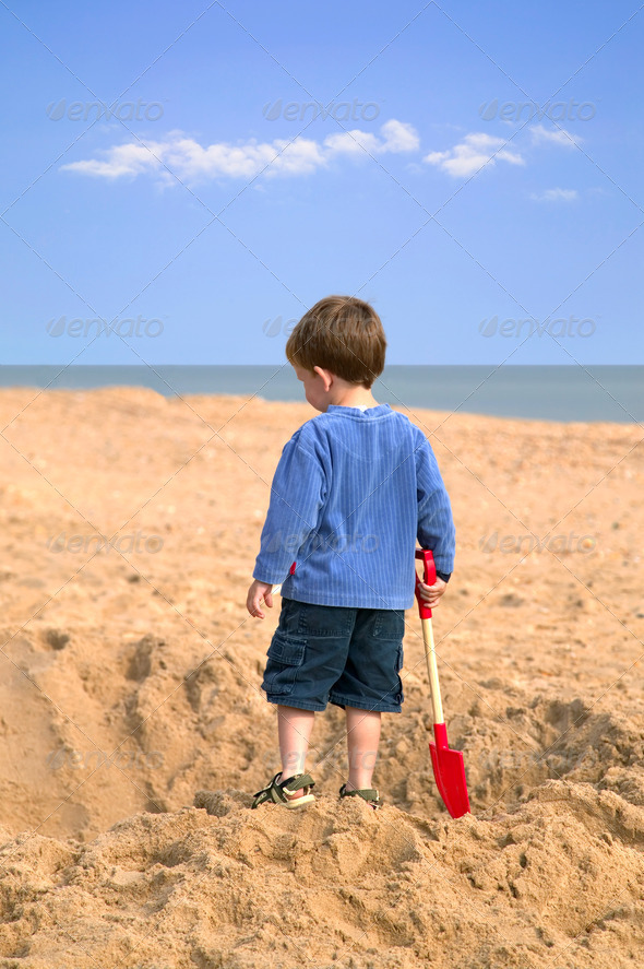 Digging a hole. - Stock Photo - Images