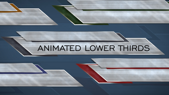 Animated lower thirds