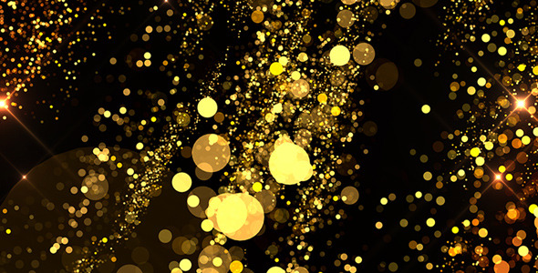 Gold Glitter Background II