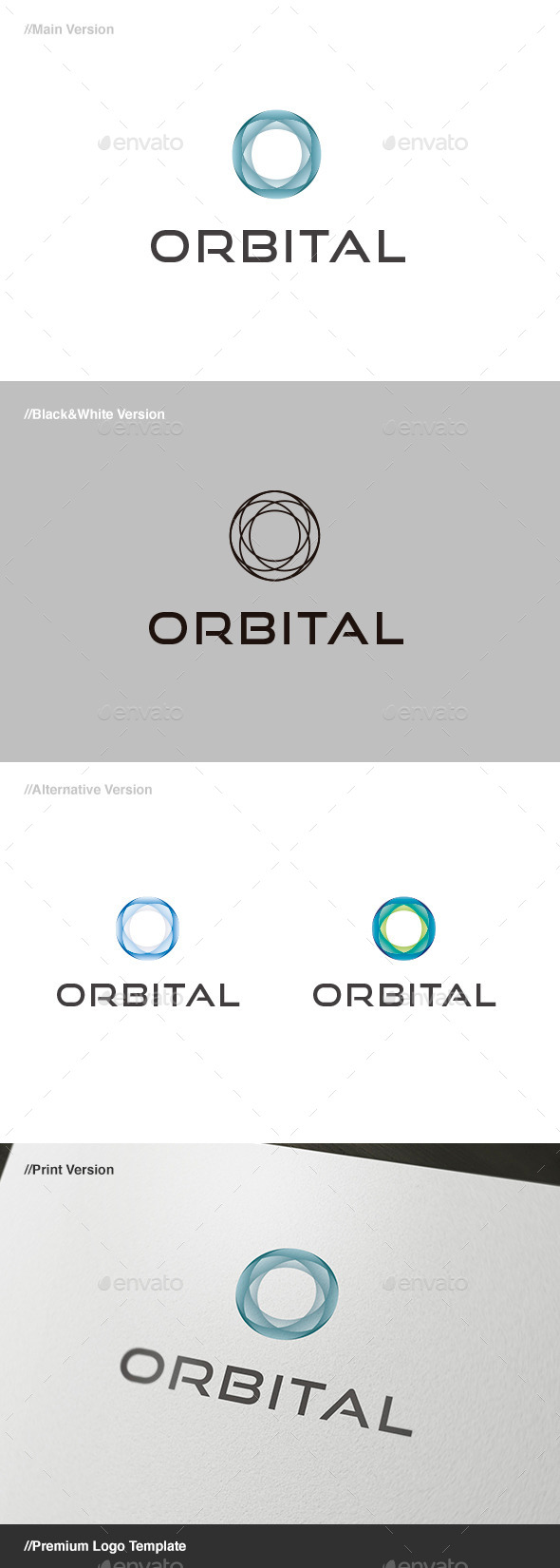Orbital Abstract Logo - Abstract Logo Templates
